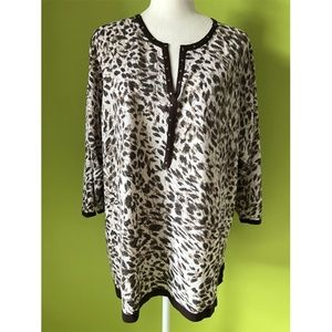 Cathy Daniels Animal Print Casual Dress Plus Sz 3X